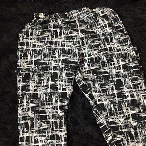 Stripped leggings